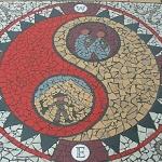 Gold Mountain sidewalk mosaic